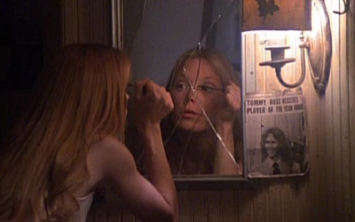 The 1976 film Carrie is based on the Stephen King book of the same name. In the movie, Sissy Spacek's character is treated poorly by her peers. Life isn't too great for her at home either. When she snaps from a cruel prank it becomes clear that Carrie really isn't like the other kids. All rights reserved.