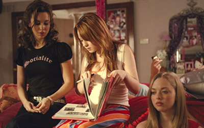 "In the comedy Mean Girls, previously home-schooled Cady gets an education on being popular when her two friends convince her to infiltrate the group so she can destroy it. The girls, known as ""the Plastics"" have a Burn Book where they record various insults about other students."