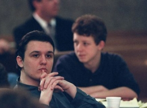 Damien Echols (left) and Jason Baldwin (right) stood trial together in 1994